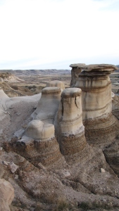 The main group of hoodoos in Alberta's Badlands.