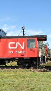 Restore CN caboose at Elk's Park.