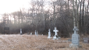 Cemetery behind the church.
