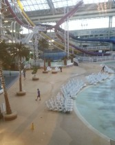 West Edmonton Mall's World Waterpark getting ready to close for the night.